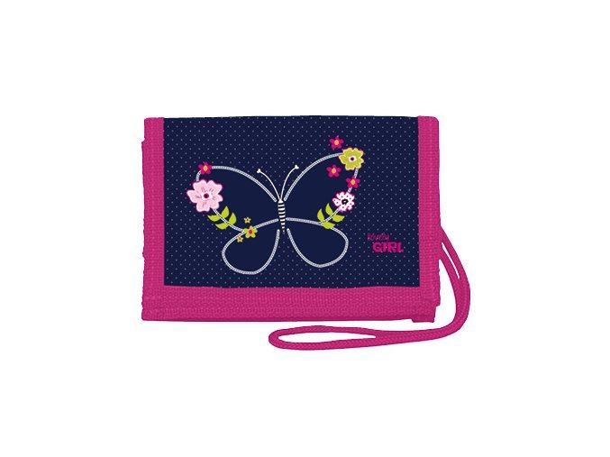 Peněženka na krk Blue Butterfly