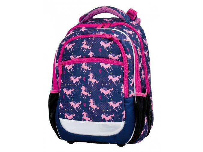 Školní batoh Pink Unicorn s dárkem