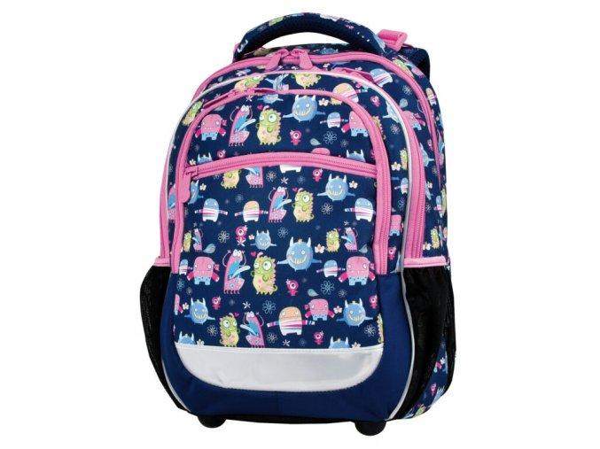Školní batoh Happy monsters s dárkem