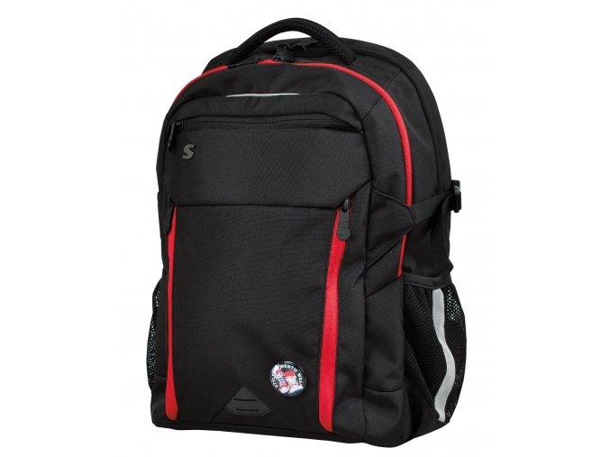Studentský batoh Black - Red s dárkem