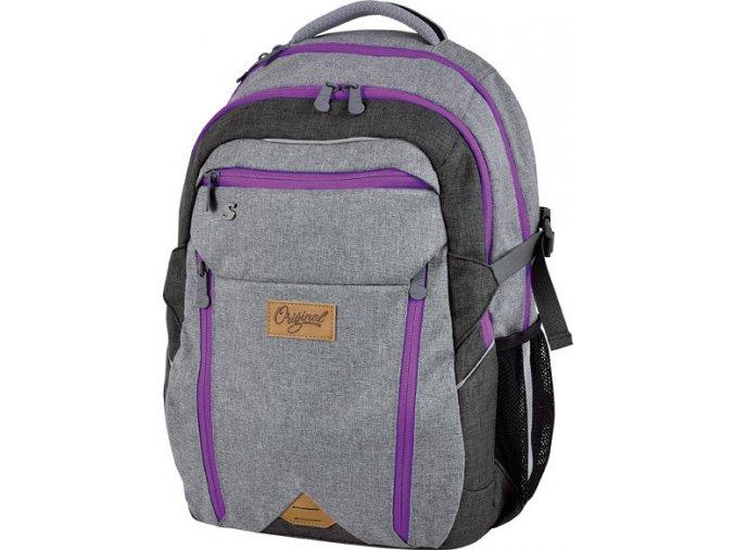 Studentský batoh Original lila s dárkem dle vlastního výběru  + zdarma dárek dle vlastního výběru