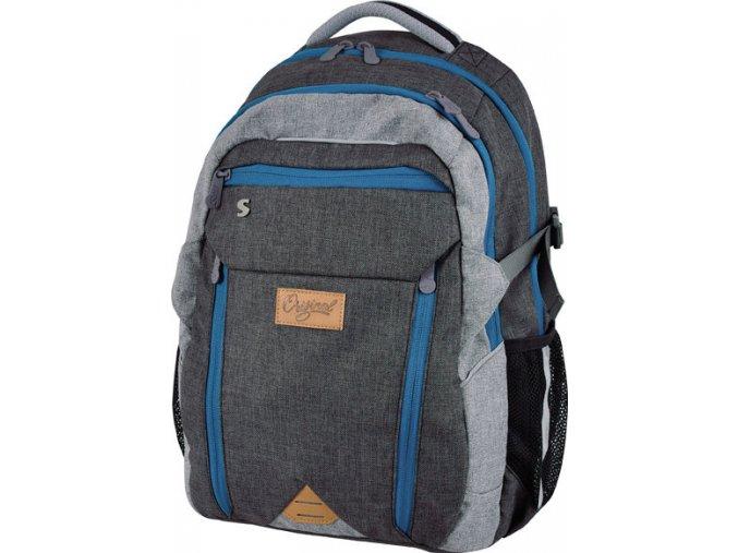 Studentský batoh Original blue s dárkem dle vlastního výběru  + zdarma dárek dle vlastního výběru