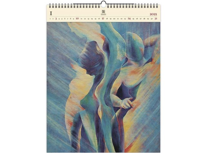 Luxusní dřevěný obrazový kalendář  Women II.