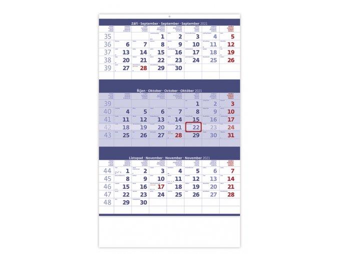 Tříměsíční kalendář modrý