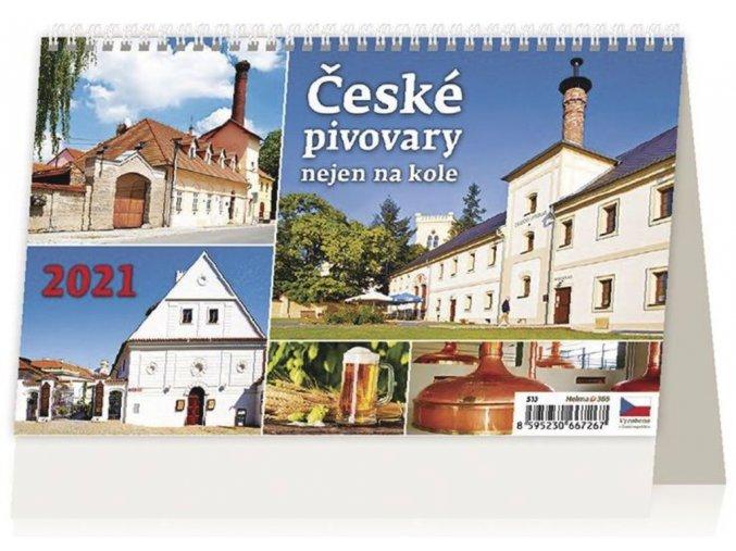 Kalendář České pivovary nejen na kole