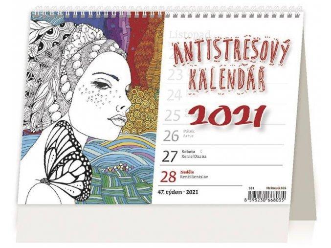 Antistresový pracovní kalendář