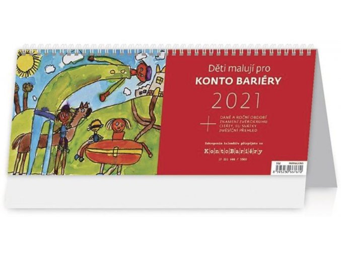 Kalendář Děti malují pro Konto Bariéry