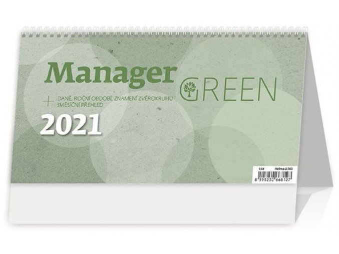 Kalendář Manager Green na recyklovaném papíře