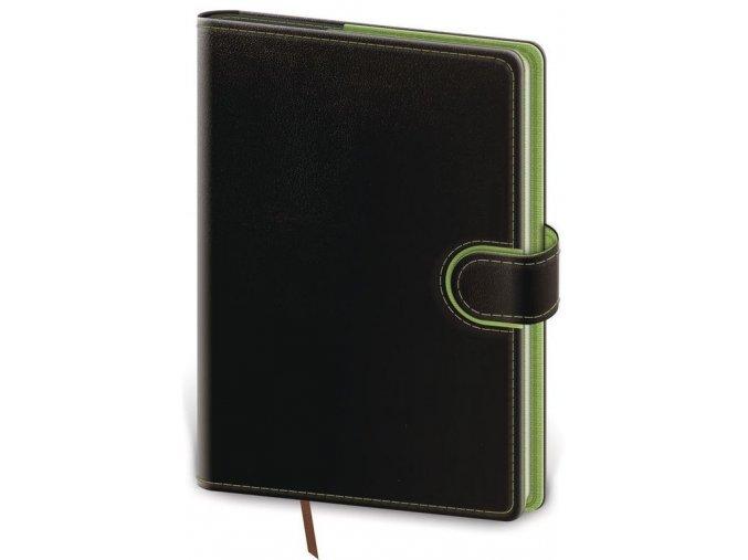 Týdenní diář A5 Flip černo/zelený