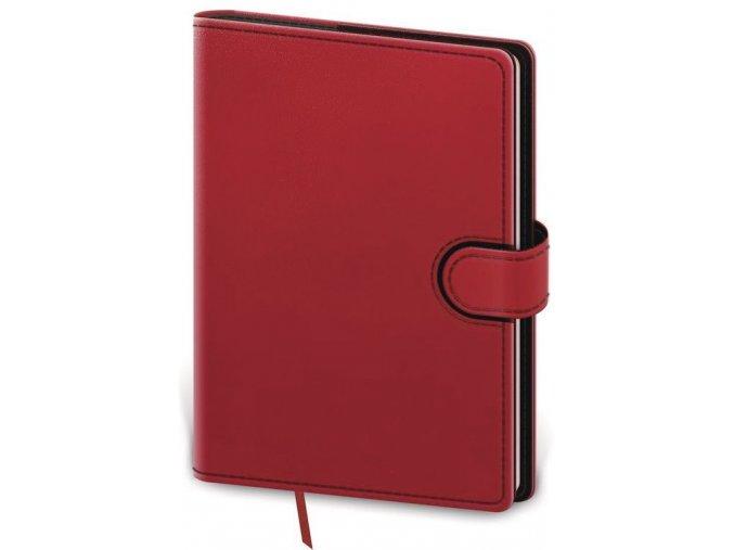 Denní diář B6 Flip červeno/černý