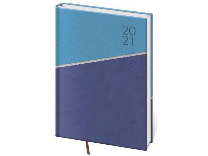 Denní diář A5 Line modrý