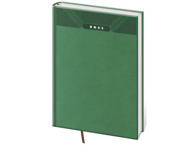 Týdenní diář A5 Print zelený