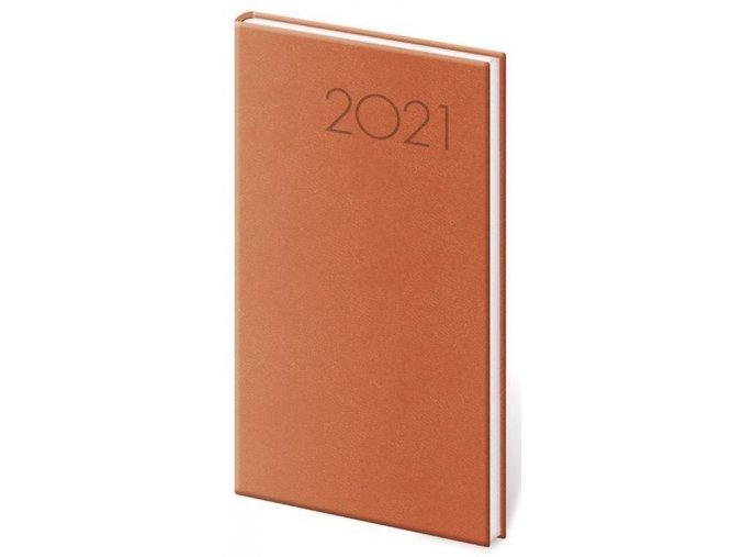 Kapesní diář Print oranžový