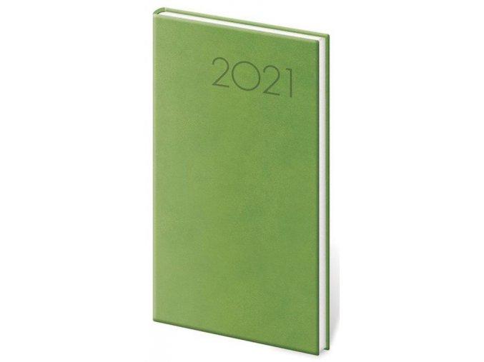 Kapesní diář Print světle zelený
