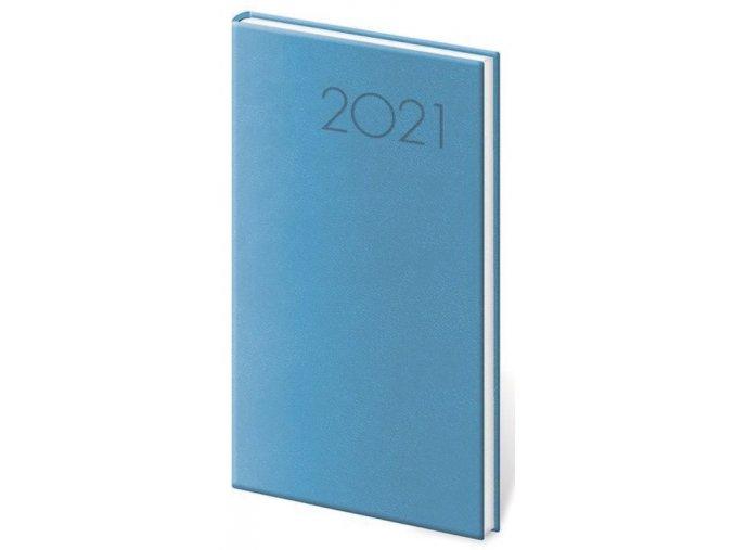 Kapesní diář Print světle modrý