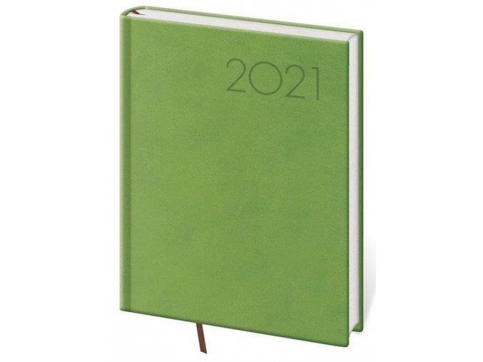 Denní diář B6 Print světle zelený