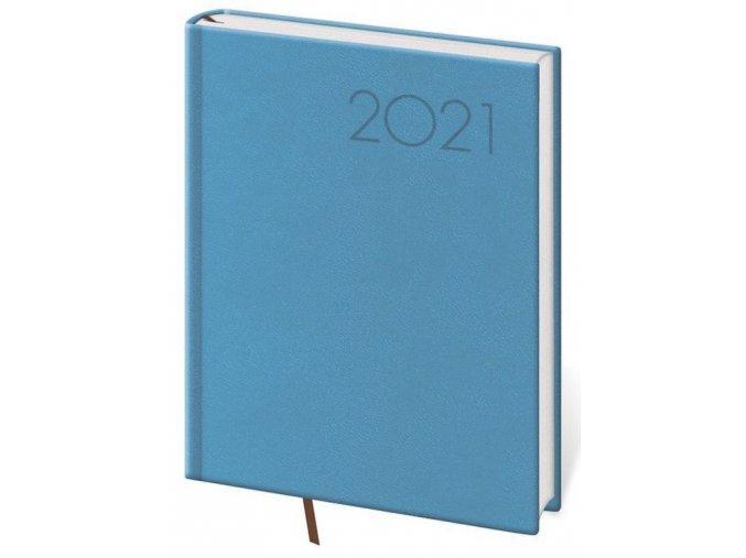 Denní diář B6 Print světle modrý