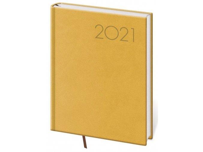 Denní diář B6 Print žlutý