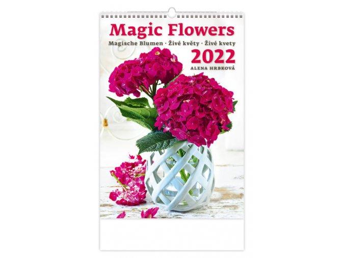 Kalendář Magic Flowers/Magische Blumen/Živé květy/Živé kvety