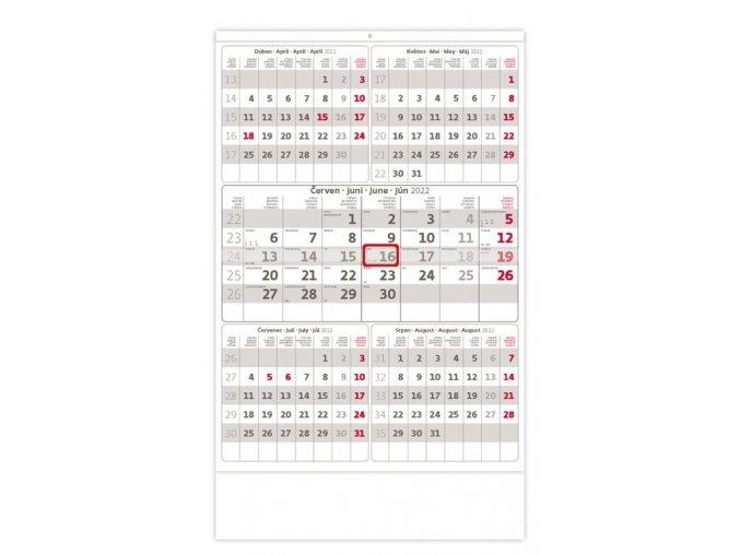 Pětiměsíční kalendář šedý