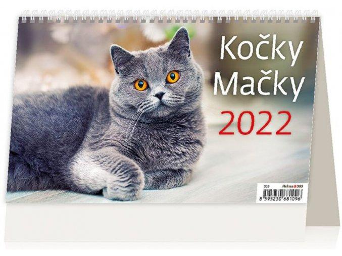 Kalendář Kočky/Mačky