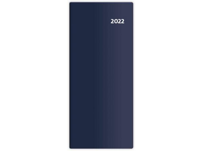 Kapesní diář měsíční Torino - modrá/blue