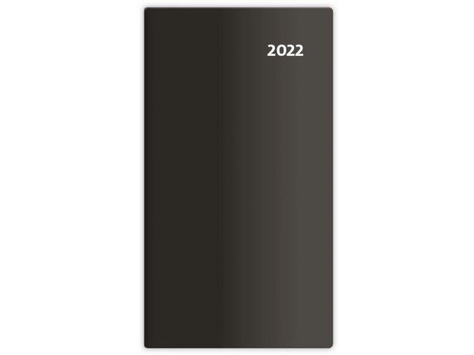 Kapesní diář čtrnáctidenní Torino - černá/black