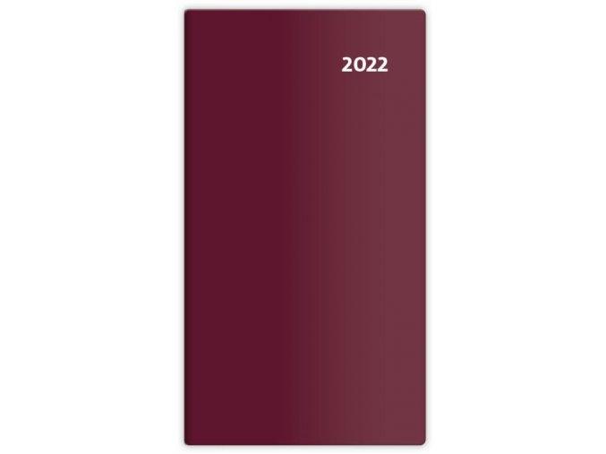 Kapesní diář čtrnáctidenní Torino - bordó/bordeaux red