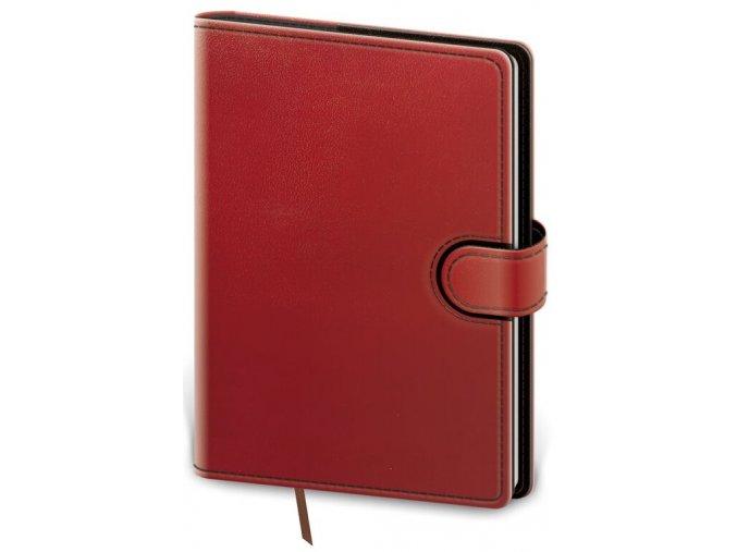 Denní diář B6 Flip - červeno/černá