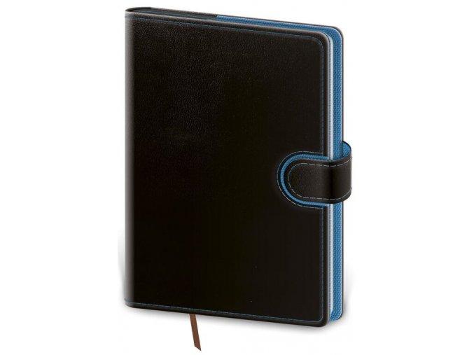Týdenní diář kapesní Flip - černo/modrá