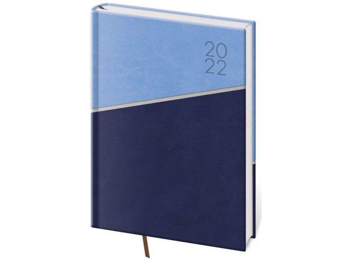 Denní diář A5 Line - modrý