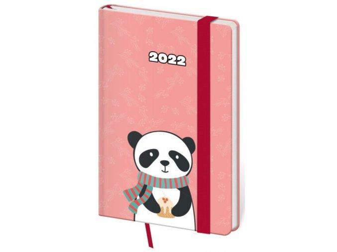 Týdenní diář kapesní Vario - Panda s gumičkou