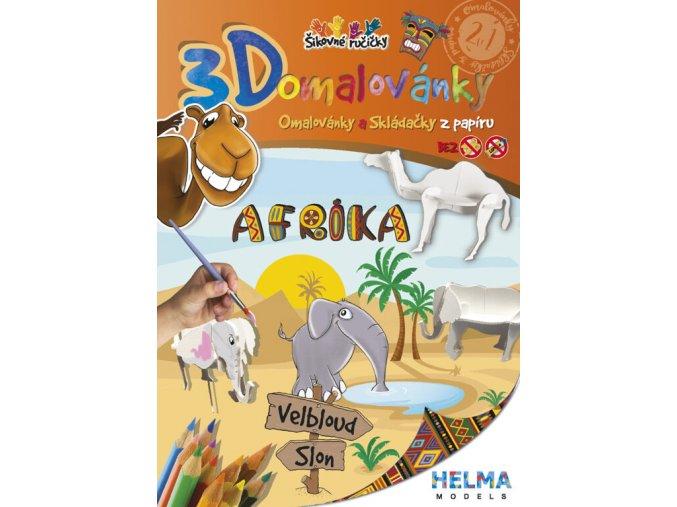 3D omalovánky Afrika - slon a velbloud