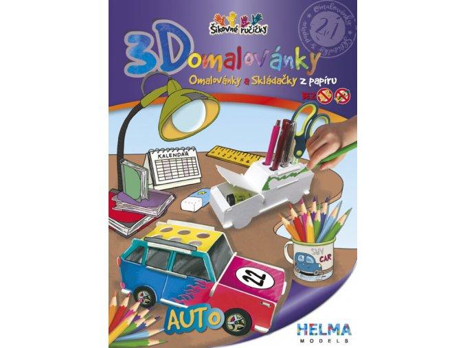 3D omalovánky Auto