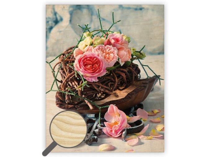 Dřevěný obraz Roses