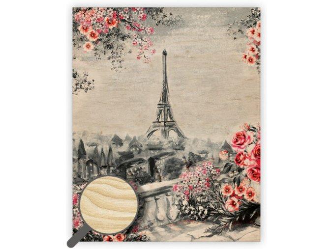 Dřevěný obraz Eiffel Tower II.