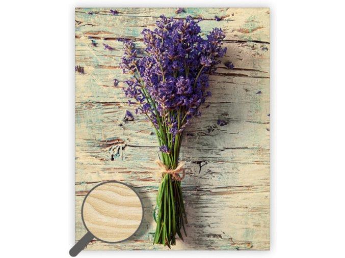 Dřevěný obraz Lavender