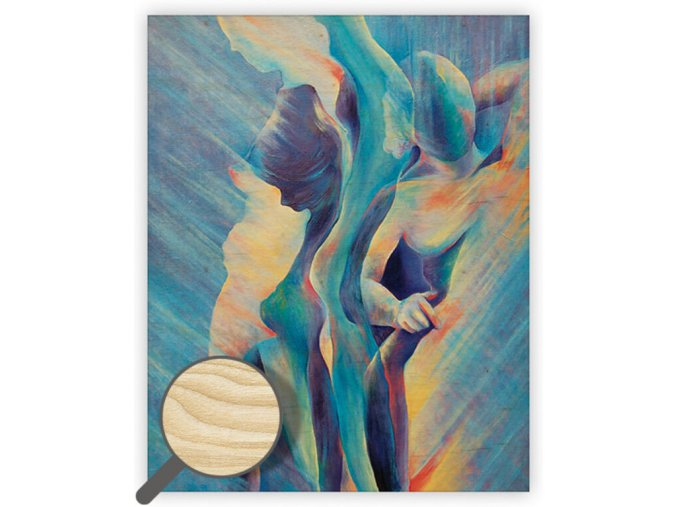 Dřevěný obraz Women II