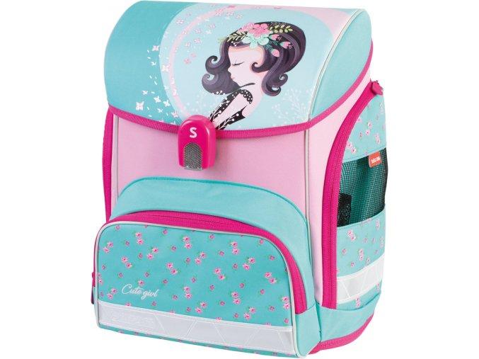 Stil školní aktovka Cute girl s dárkem  + zdarma dárek dle vlastního výběru