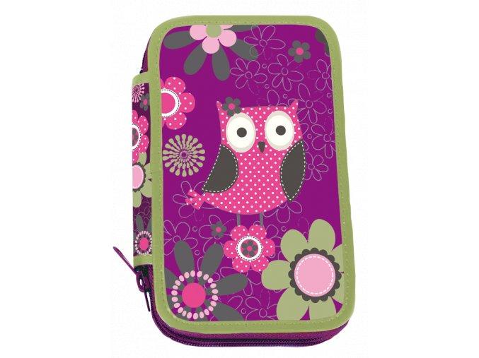 Školní penál dvoupatrový Owl