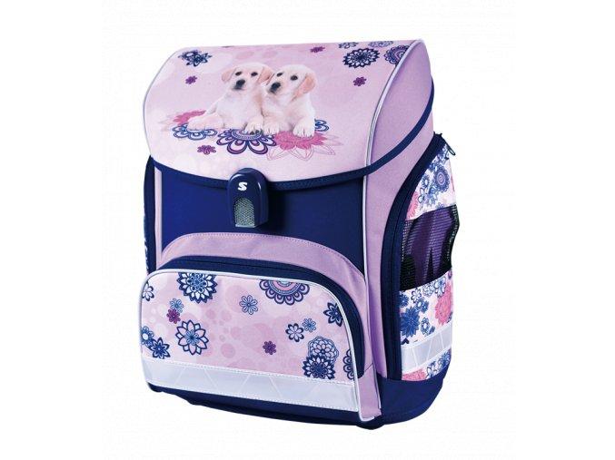 Školní aktovka Best Friends (anatomický batoh) s dárky  + zdarma svačinový box a dárkem dle vlastního výběru