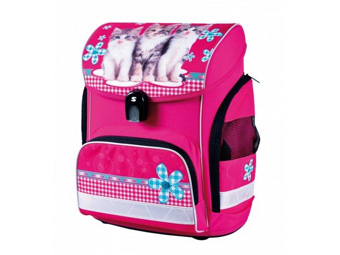 Školní aktovka Cats (anatomický batoh) s dárky  + zdarma svačinový box a dárek dle vlastního výběru