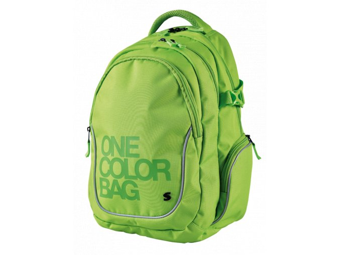 Studentský batoh Teen One Colour zelený
