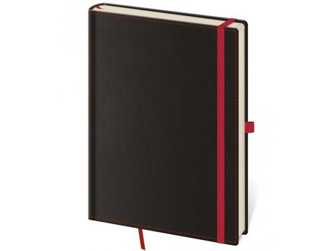 Zápisník s čistým blokem Black Red L