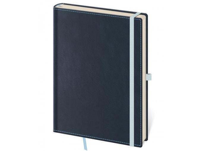 Tečkovaný zápisník Double Blue M/A6 (čtverečkovaný)