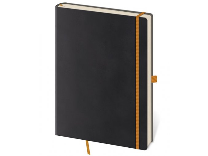 Zápisník s čistým blokem Flexies L/A5  černý