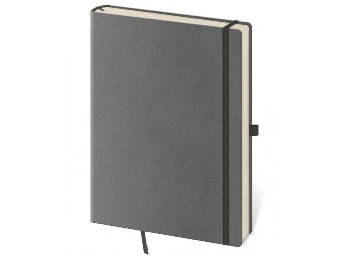 Zápisník s čistým blokem Flexies L/A5  šedý
