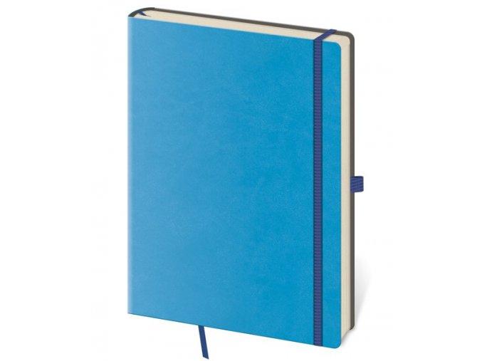 Tečkovaný zápisník Flexies B6 (M) modrý (čtverečkovaný)