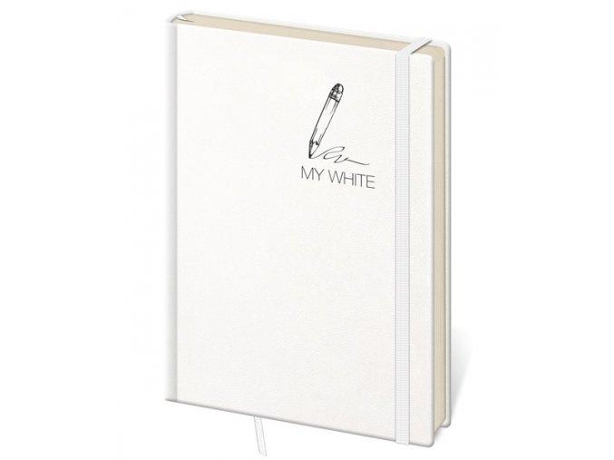 Tečkovaný zápisník My White L/A5  (čtverečkovaný)