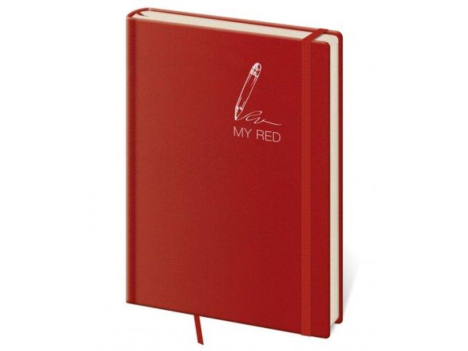 Tečkovaný zápisník B6 My Red (M) (čtverečkovaný)